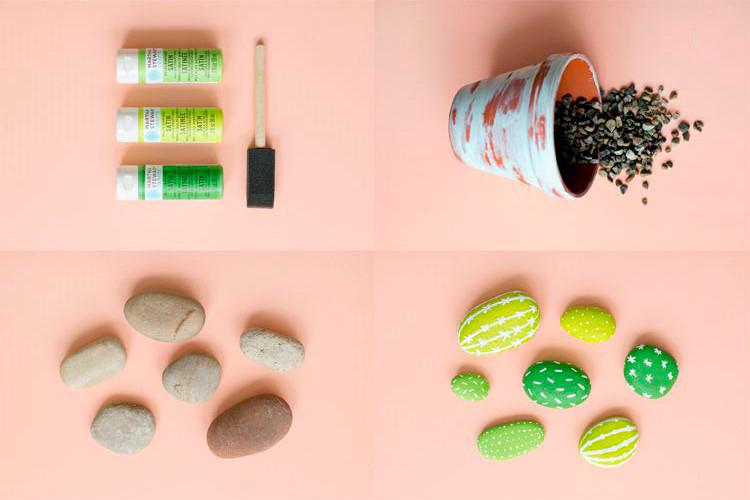 Decora tu depa con hermosos cactus de piedra