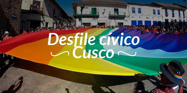 Desfile cívico en honor a Cusco