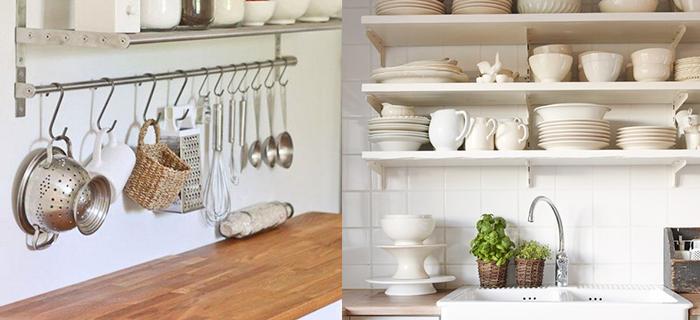 Lo último en decoración de cocinas: Estanterías abiertas